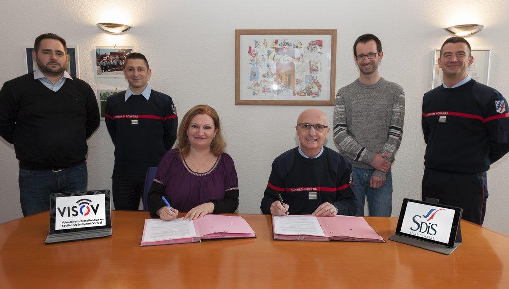 [ CONVENTION ] Les pompiers de Seine-et-Marne signent avec VISOV