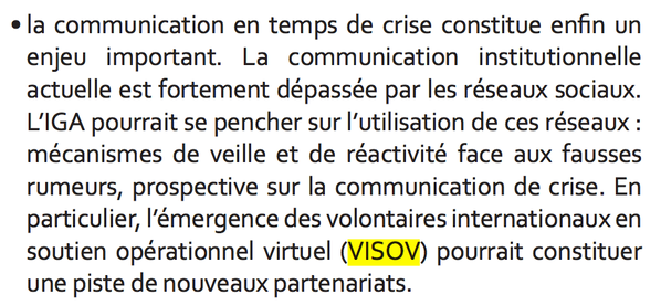 VISOV dans des documents officiels
