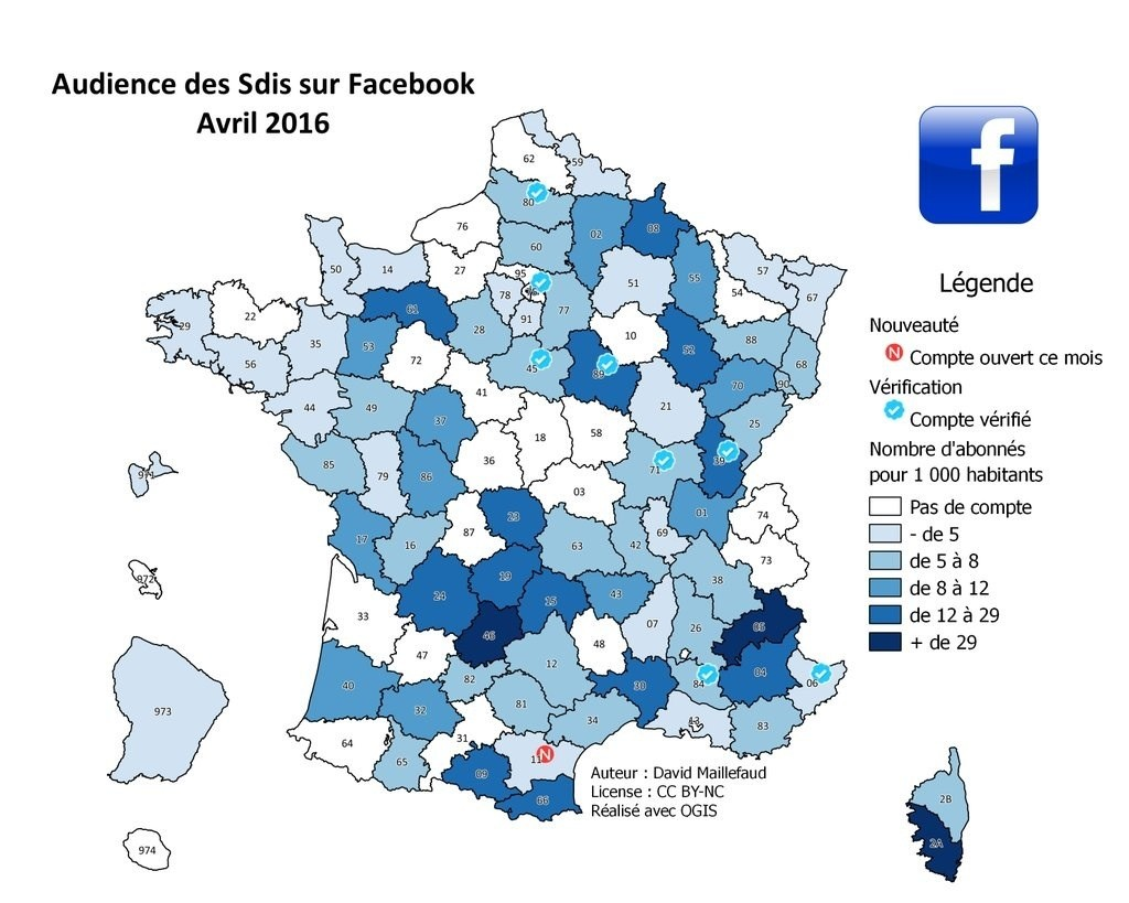 Audience SDIS sur Facebook