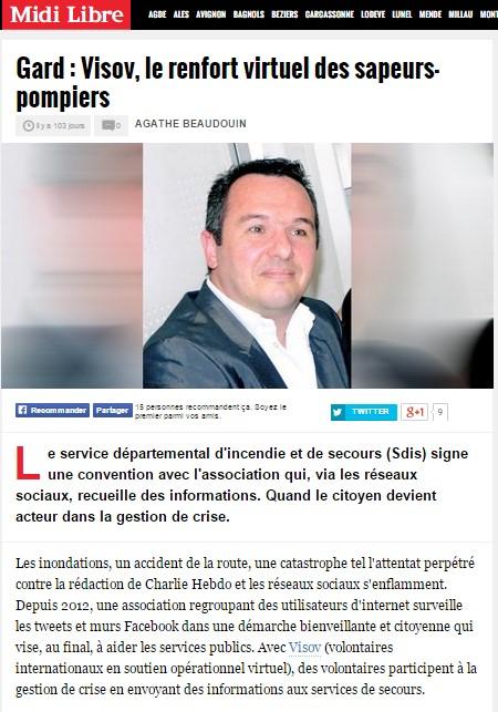 VISOV dans les médias : Midi Libre
