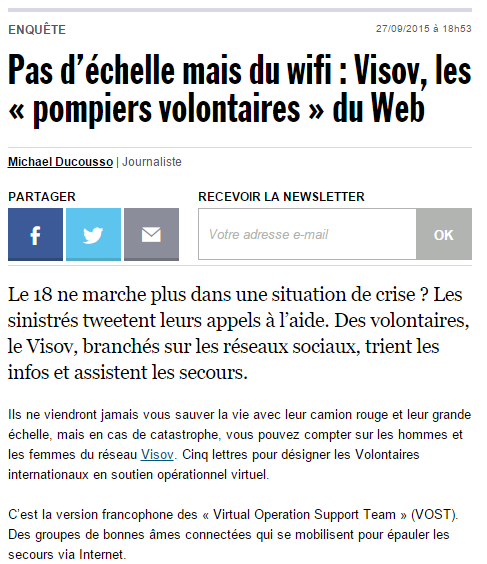 VISOV dans les médias Rue89