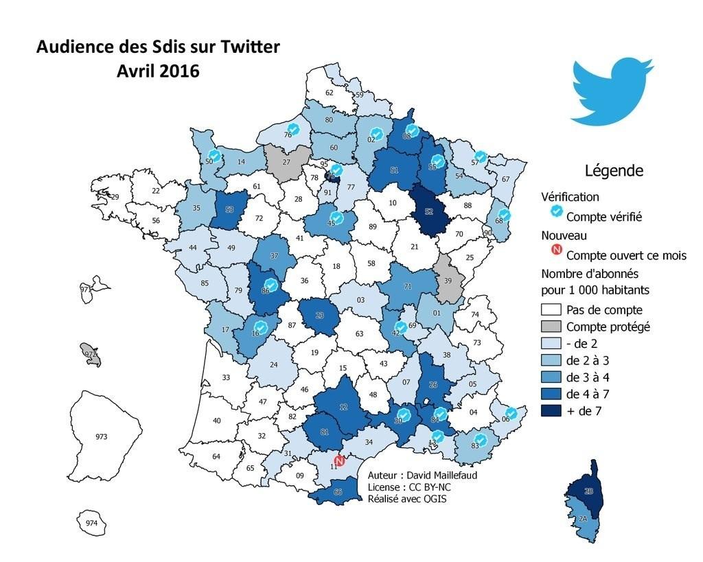 SDIS et Préfectures sur Twitter et Facebook